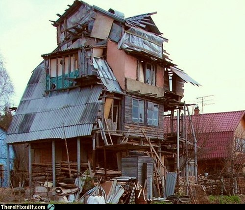 Insane house, There I fixed it