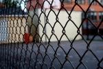 Chain-fence schoolyard