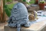 Humpty Dumpty in a garden