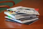 Pile of old catalogs